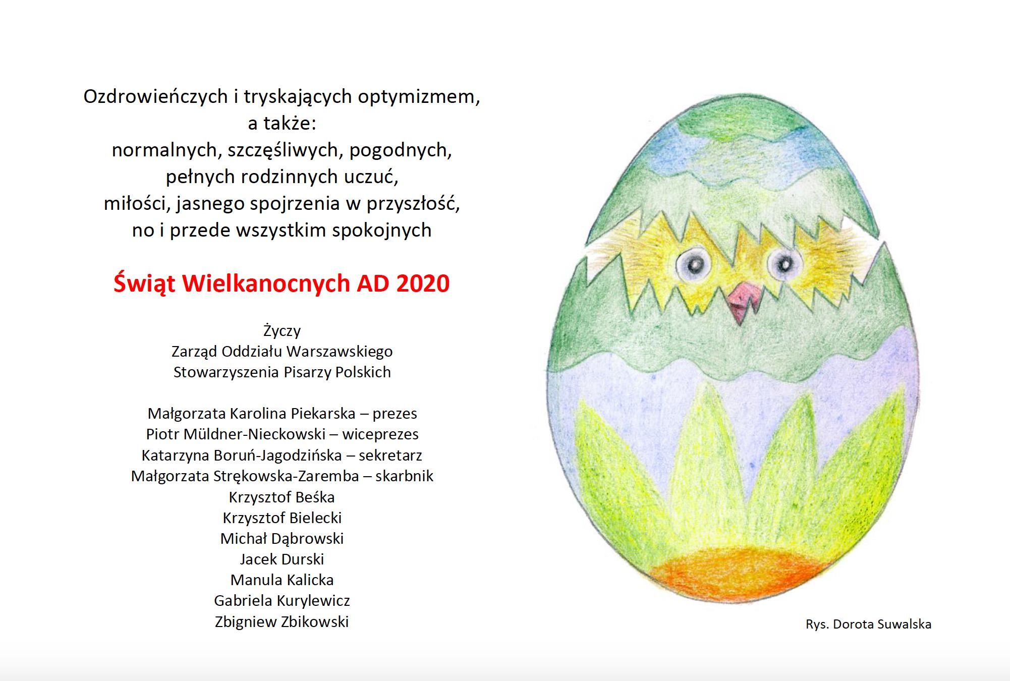 Wesołych Świąt Wielkanocnych AD 2020
